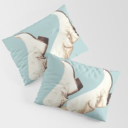 These Boots - Blue Pillow Sham