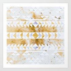 Burnt Gold Tribal Art Print
