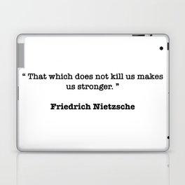 Friedrich Nietzsche Quote Laptop & iPad Skin
