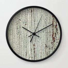 Crackled Wood rustic decor Wall Clock
