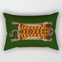 TIBETAN TIGER RUG-green Rectangular Pillow