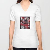 mustang V-neck T-shirts featuring 1966 Mustang  by Andrew Sliwinski