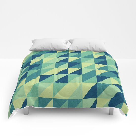 turquoise pattern Comforters