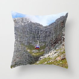 At Table Mountain, Cape Town South Africa Throw Pillow