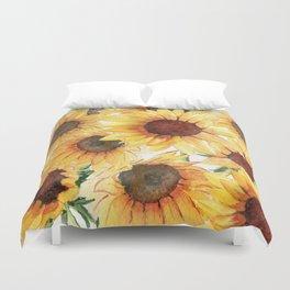 Sunflowers Bloom  Duvet Cover