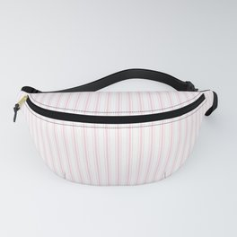 Light Soft Pastel Pink and White Mattress Ticking Fanny Pack
