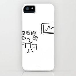 stock exchange stockbroker fund manager iPhone Case