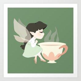 Tea Fairy Art Print