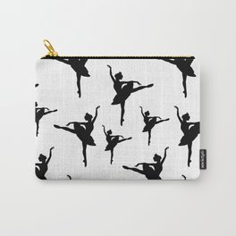 Ballerina silhouette (black) Carry-All Pouch