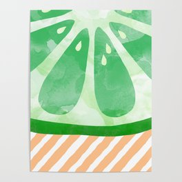 Lime Abstract Poster