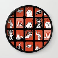 meme Wall Clocks featuring the Original Meme-ory matching game! by Gimetzco's Damaged Goods