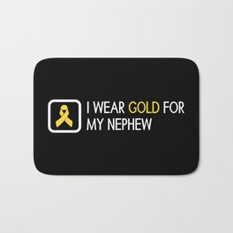 Childhood Cancer: Gold For My Nephew Bath Mat