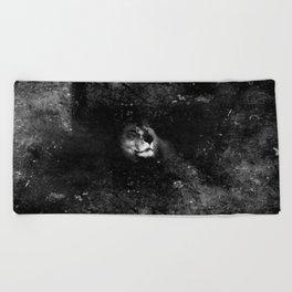 Lion in the Dark Beach Towel