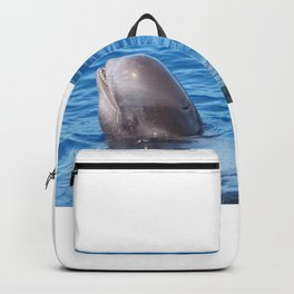 Cute wild pilot whale baby Backpack