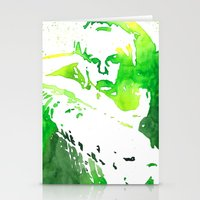 neil young Stationery Cards featuring Young by Malin Björklund