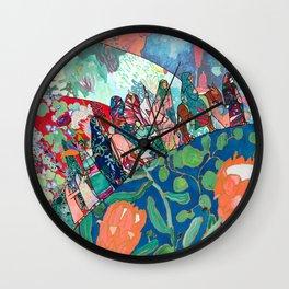 Floral Migrant Quilt Wall Clock