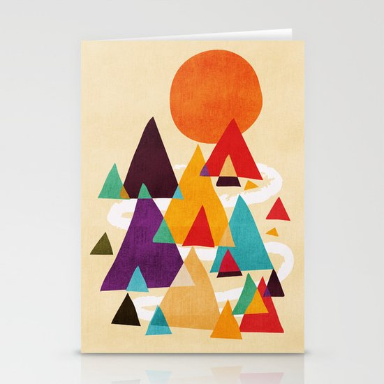 Let's visit the mountains Stationery Cards