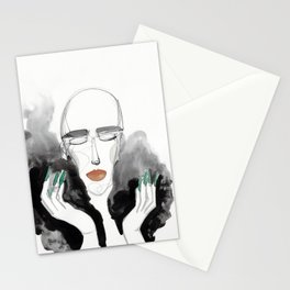 Charles in a Feather Boa Stationery Cards