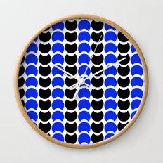 HobNob BlueBlack Print, Canvas and Laptop/iPad Skin Wall Clock
