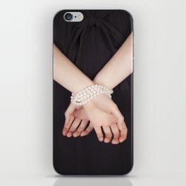 Tied with pearls iPhone Skin