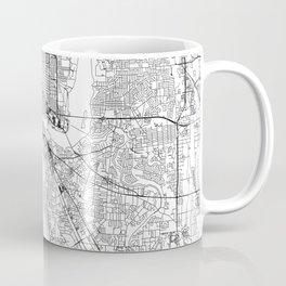 Jacksonville White Map Coffee Mug