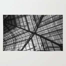 Liverpool Street Station Glass Ceiling Abstract Rug