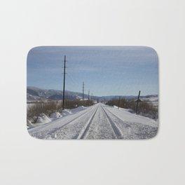 Carol M. Highsmith - Snow Covered Railroad Tracks Bath Mat