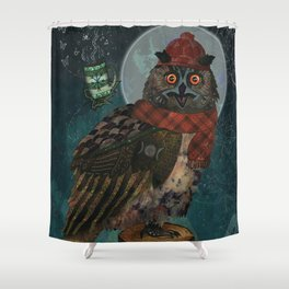 Bubo Bubo Shower Curtain