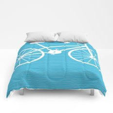 Blue Bike by Friztin Comforters