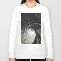 sand Long Sleeve T-shirts featuring Sand stone spiral staircase by Falko Follert Art-FF77