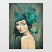 mermaid Canvas Prints featuring Mermaid by Mandy Tsung