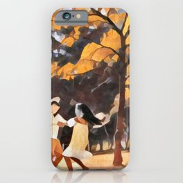 Happy Siblings iPhone Case