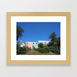 Houses on a Hill Framed Art Print