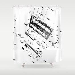 6 STRING FLIGHT Shower Curtain