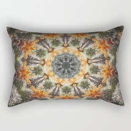 Trichomes Tangerine Rectangular Pillow