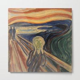 The Scream by Edvard Munch Metal Print