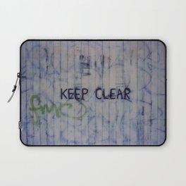 Keep Clear Laptop Sleeve