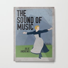 The Sound of Music Staring Julie Andrews Metal Print