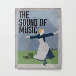 The Sound of Music Staring Julie Andrews Metal Print