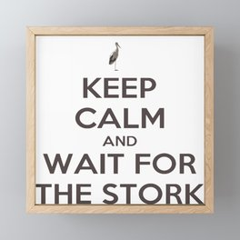 Keep Calm And Wait For The Stork Baby Delivery Framed Mini Art Print