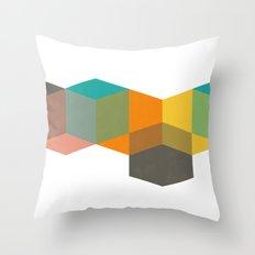 Color Study Cubes Throw Pillow