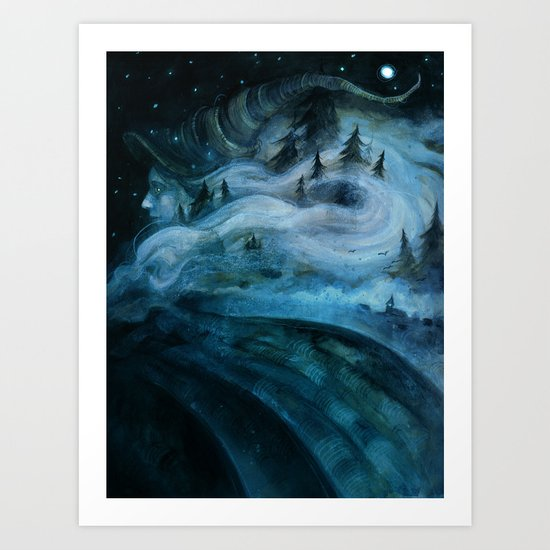 Witch of the Hills Art Print