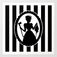 black widow Art Prints featuring Widow by babydark