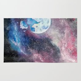 Space and the Moon Rug