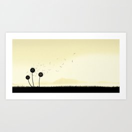 The violence of the wind Art Print