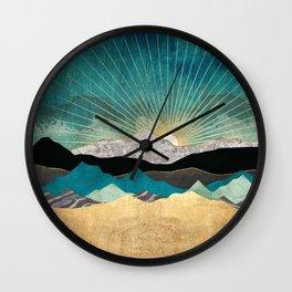Peacock Vista Wall Clock