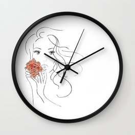 Beauty Blossom Wall Clock