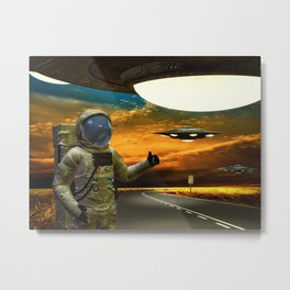 Hitchinghiking Across The Universe Metal Print
