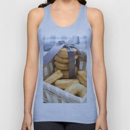 Croissant and Donut composition Unisex Tank Top