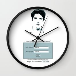 His username is Allison?  Wall Clock